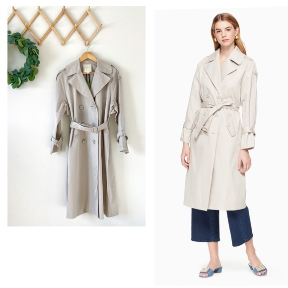 Kate Spade Double Breasted Trench Coat NWT